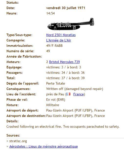 Accident aérien du 30 juillet 1971 à Pau Zea10