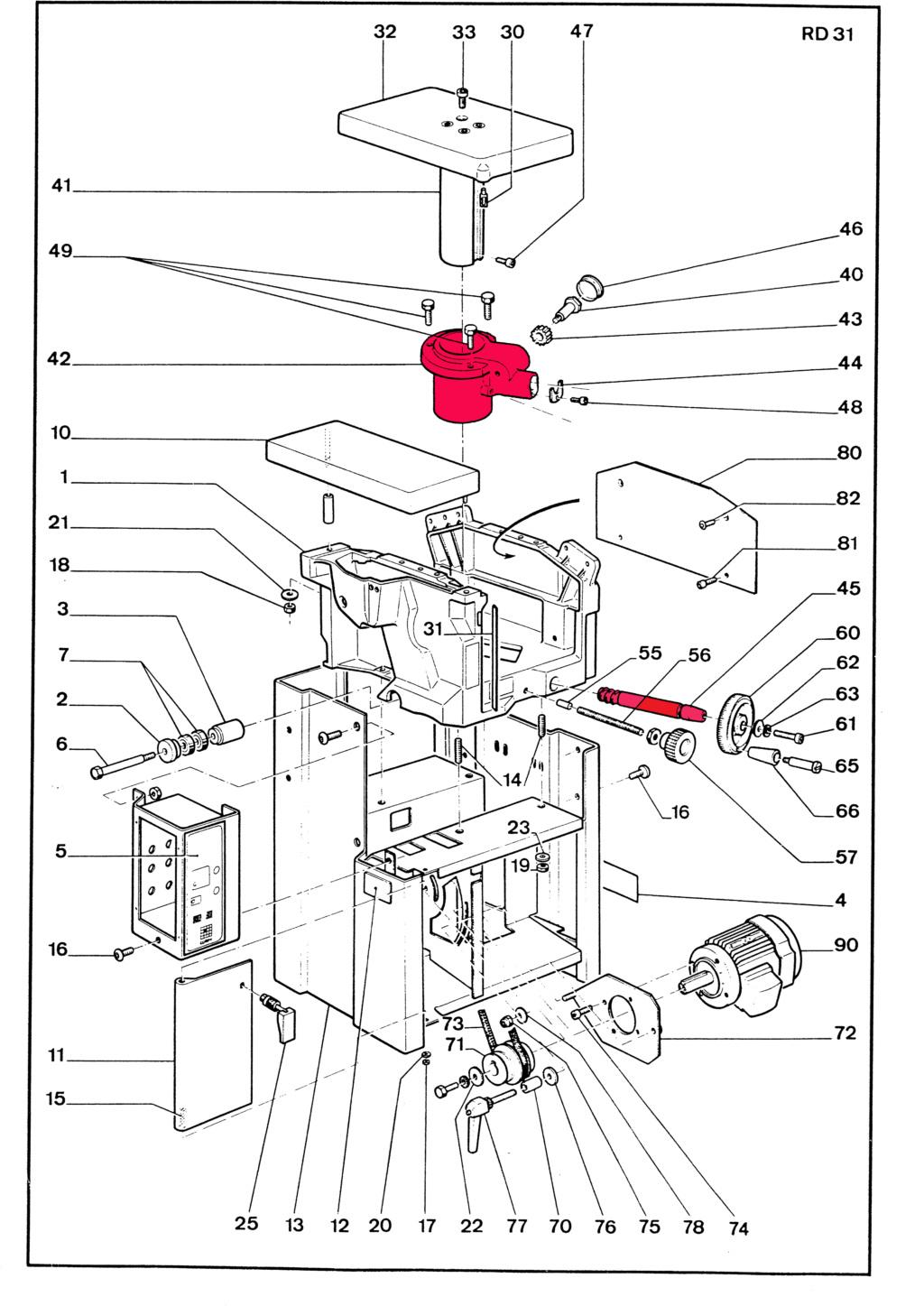 motorisation table dégau rabot Lurem RD310 Eclatz15