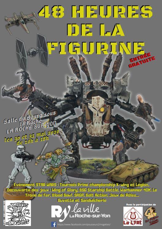 Les 48H de la figurine  les 30 et 31/05/2020 l'affiche Paysan12