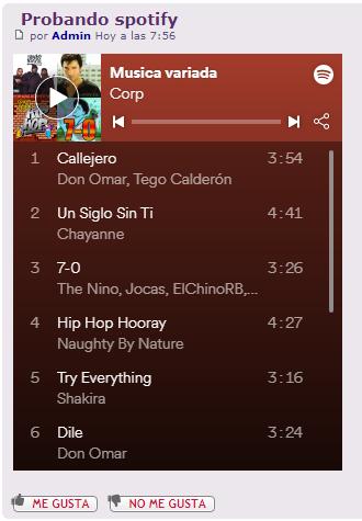 ¿Cómo se inserta una lista de Spotify en los mensajes? Captur16