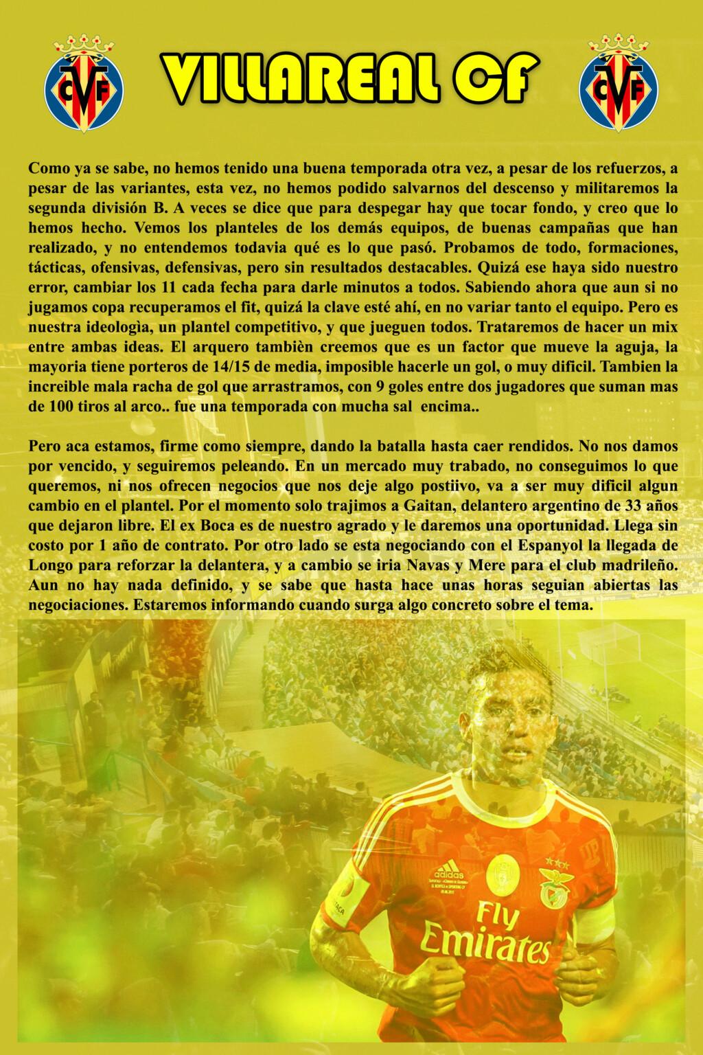 VILLAREAL CF Villar24