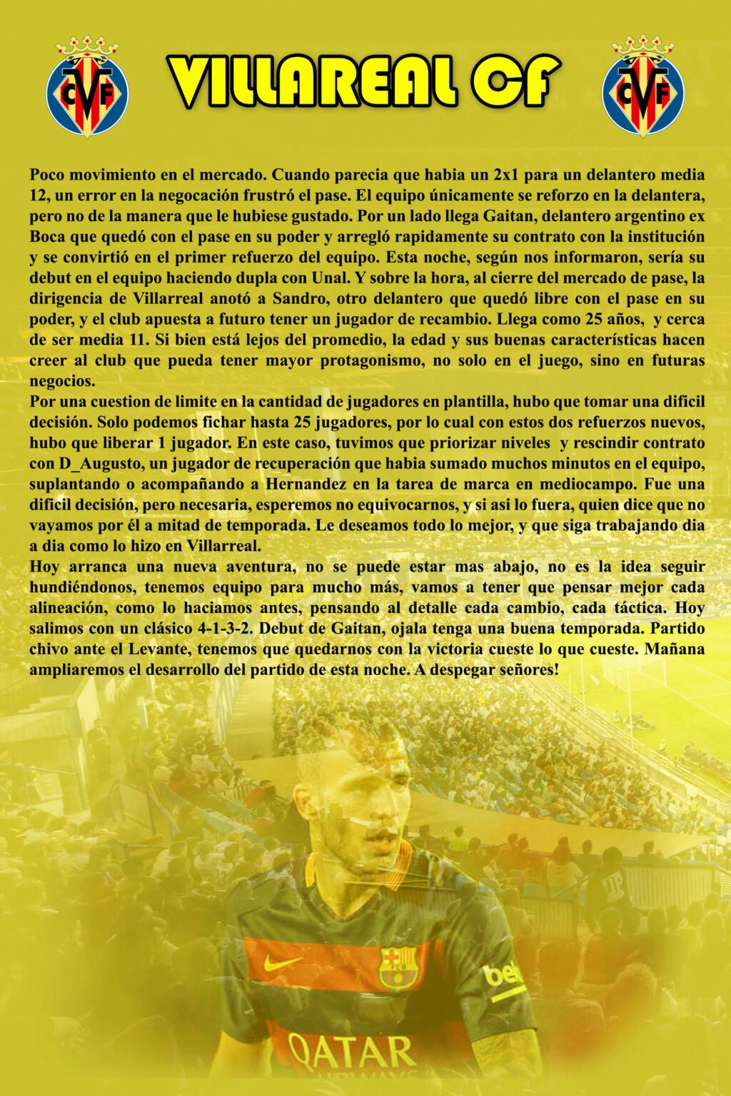 VILLAREAL CF Villar25