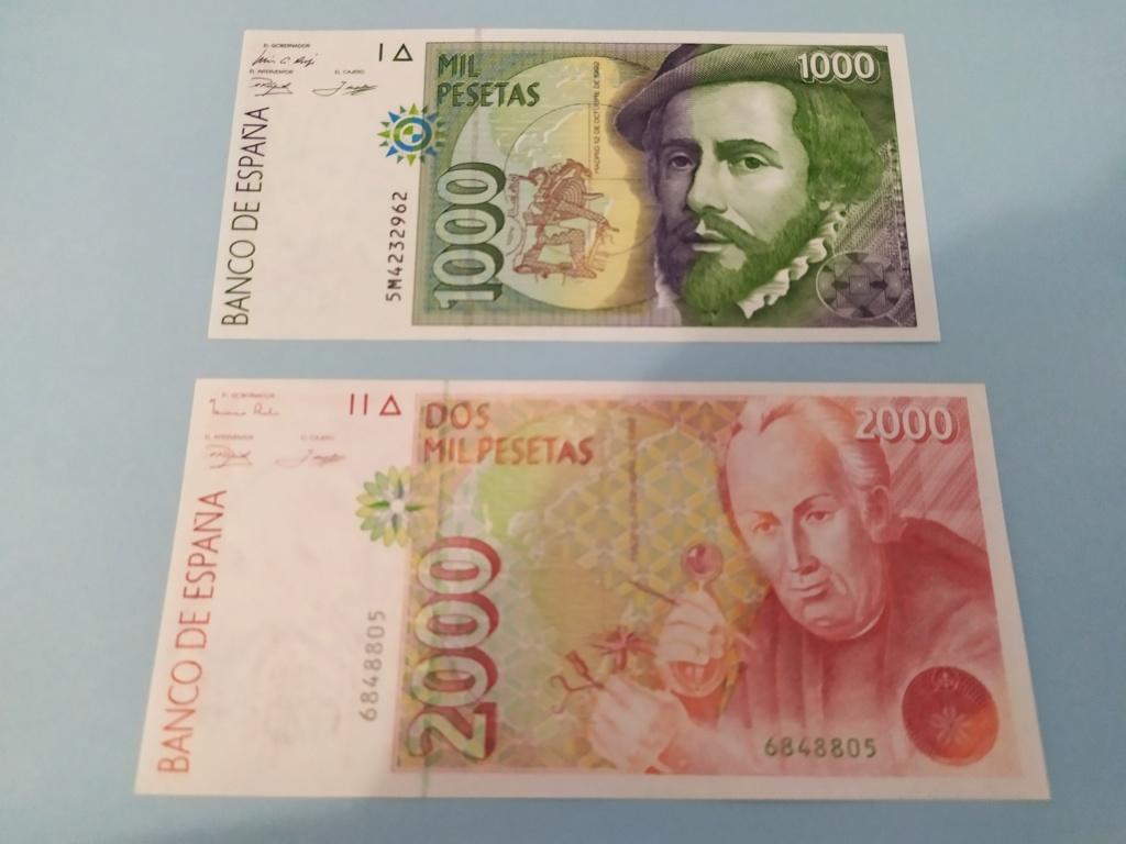 Duda en billete de 2000 pesetas 1992 - banda magnética color verde Img_2011