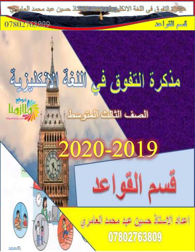 ملزمة الانجليزي للصف الثالث المتوسط جديد 2020 55410