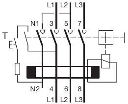 Branchement en triphasé d'un interrupteur différentiel tétrapolaire à un variateur de fréquence Cdc84010
