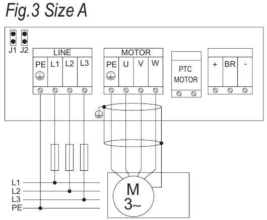 Branchement en triphasé d'un interrupteur différentiel tétrapolaire à un variateur de fréquence I-mat10