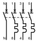 Branchement en triphasé d'un interrupteur différentiel tétrapolaire à un variateur de fréquence Nft82010