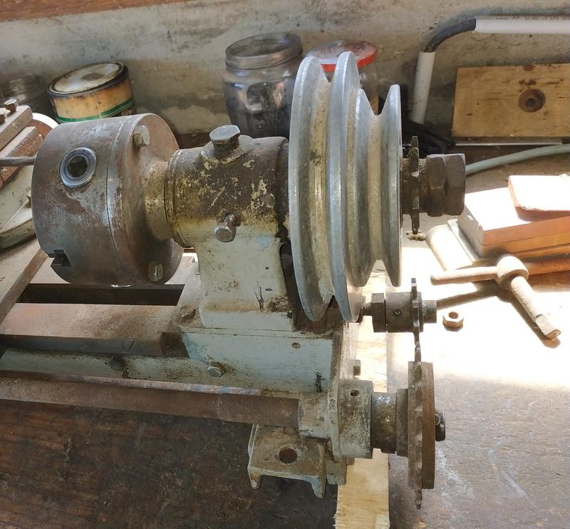 Remise en route d'un tour à métaux artisanal Img_2019