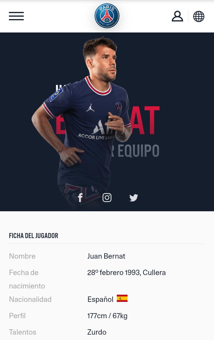 ¿Cuánto mide Juan Bernat? - Altura - Real height Screen16