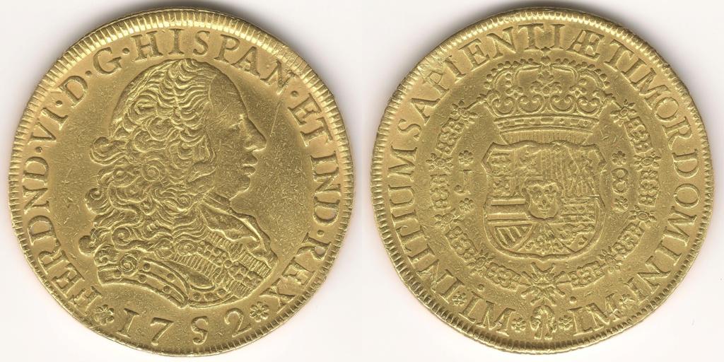 8 ESCUDOS FERNANDO VI LIMA 1752 Colección 8 escudos 29410