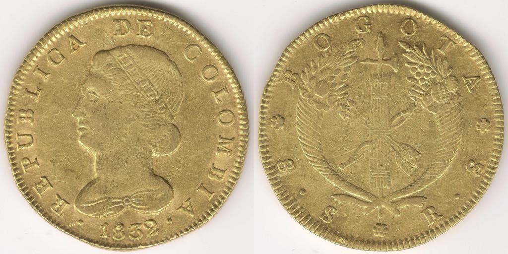 8 ESCUDOS COLOMBIANOS colección 8 escudos 36810