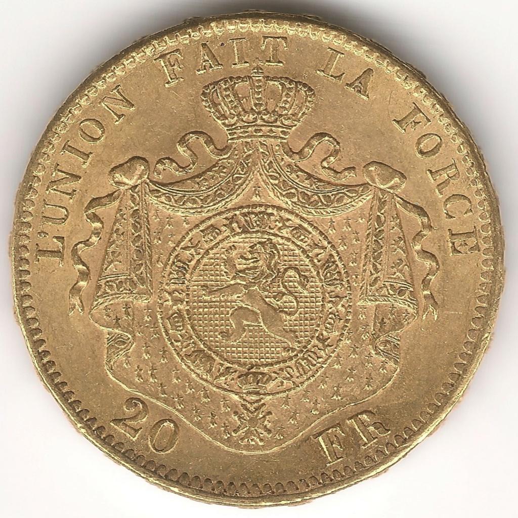 ¿?PRUEBAS METAL¿? 20 Francos Belgas 1874 460b10