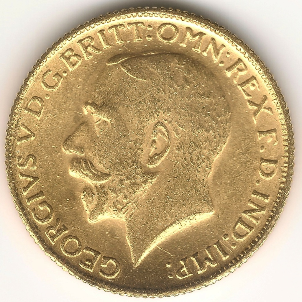 Soberano de oro 1922. Sudáfrica. Fake 99a10