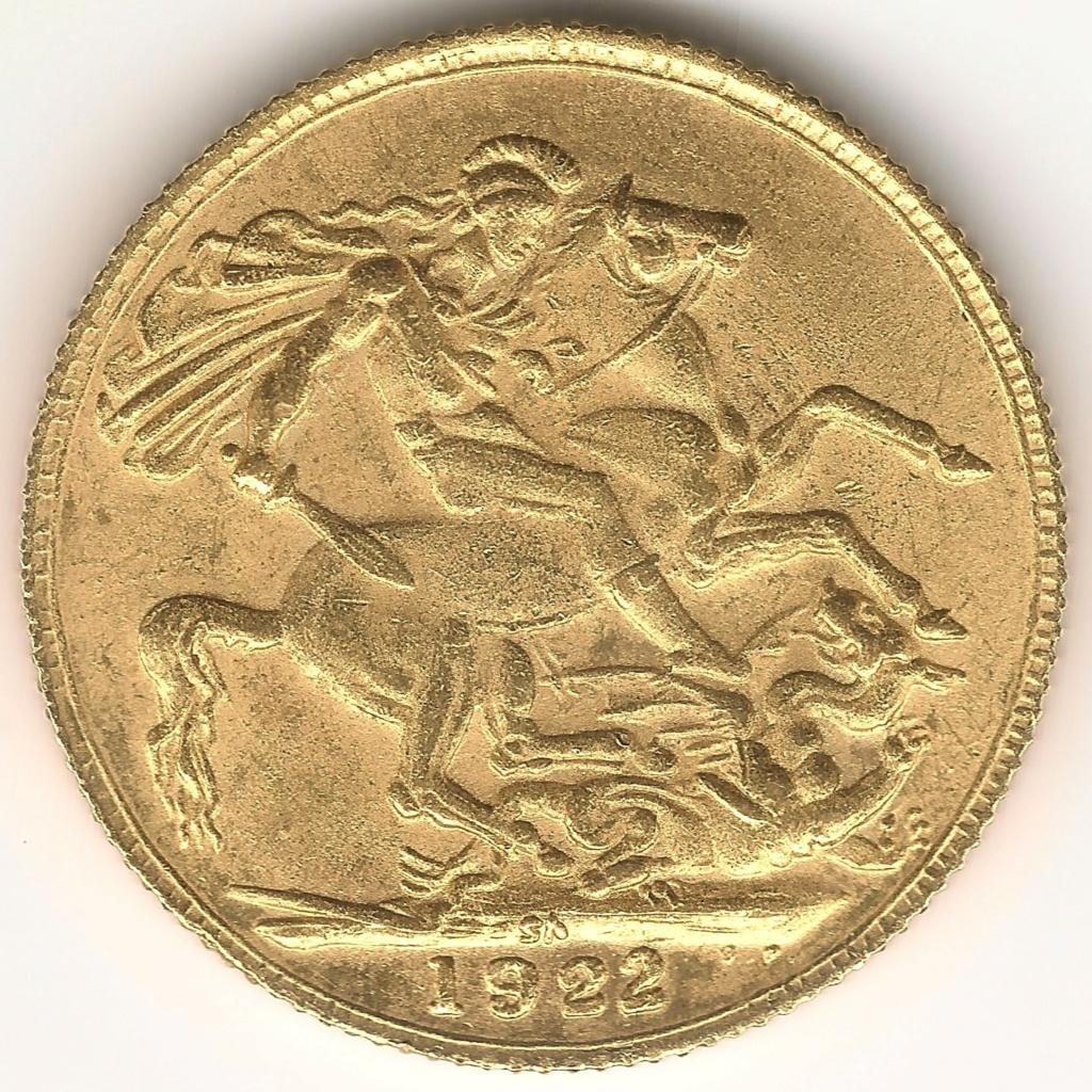 Soberano de oro 1922. Sudáfrica. Fake 99r10