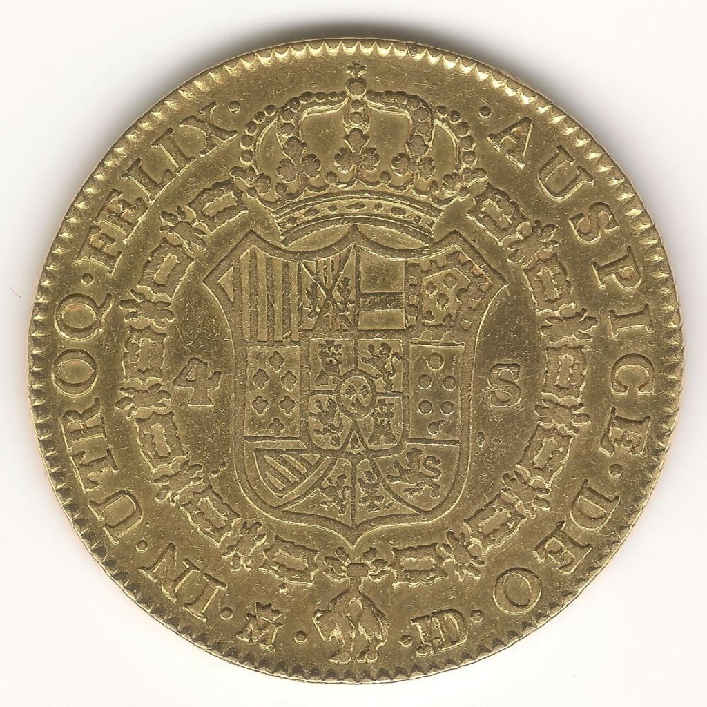 LA PAREJA de 4 Escudos 1782 Madrid JD Esczen13