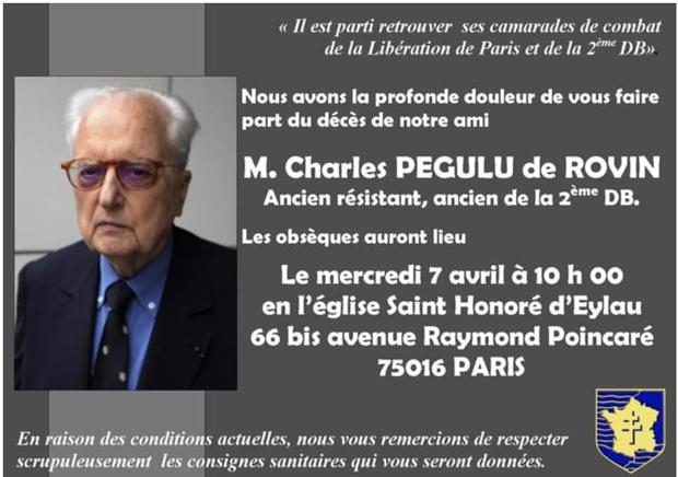 Charles PEGULU de ROVIN (I/RMT) † 30/03/2021 Charle10