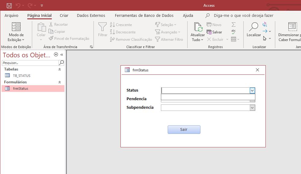 Atualizar combobox dependente de outra sem reinicializar o formulário Imagem11