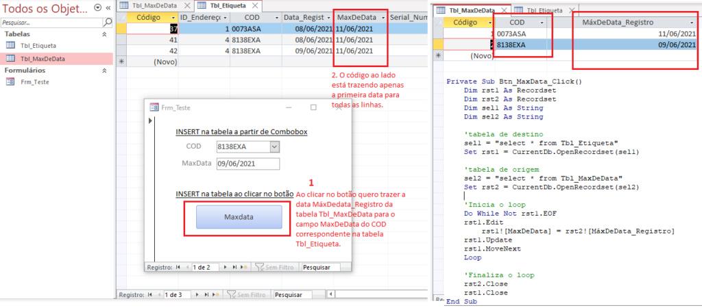 [Resolvido]Atualizar campo de tabela a partir de campo correspondente de outra tabela (Access) Print_10