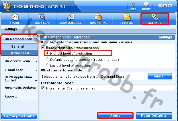 Tuto Comodo Antivirus 2.0 Comodo27