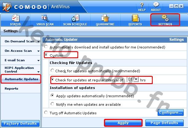 Tuto Comodo Antivirus 2.0 Comodo31