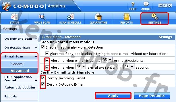Tuto Comodo Antivirus 2.0 Comodo34