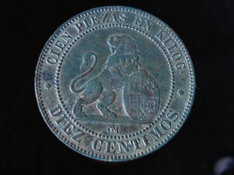 10 cts. del Gobierno provisional (Barcelona, 1870 d.C) Verano10
