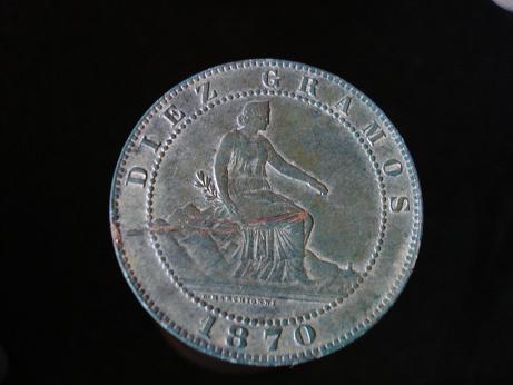 10 cts. del Gobierno provisional (Barcelona, 1870 d.C) Verano11