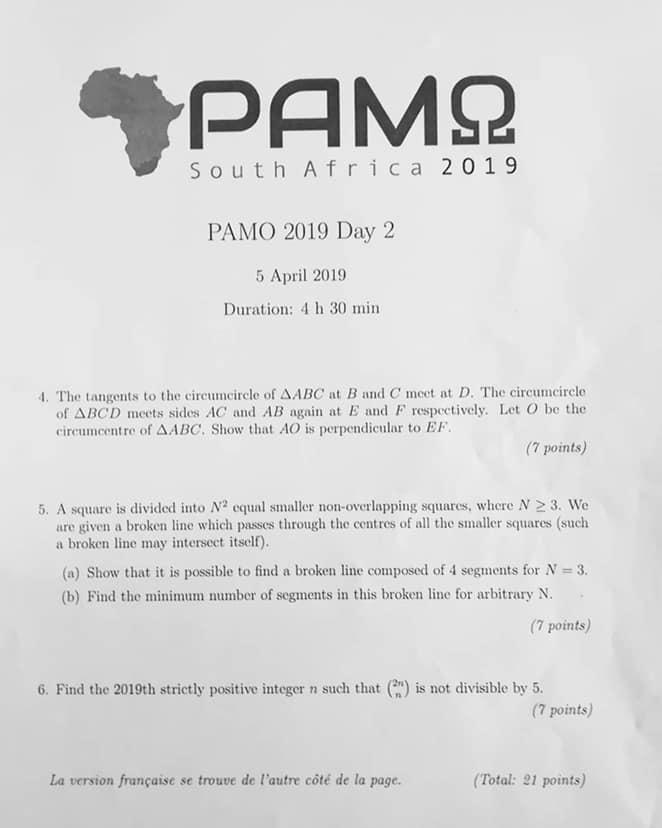 PAMO 2019 TEST 2eme JOUR Pamo_211