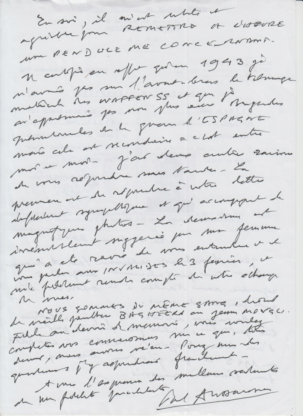 Mes échanges de courriers avec SOUAL alias Paul AUSSARESSES Aussar11