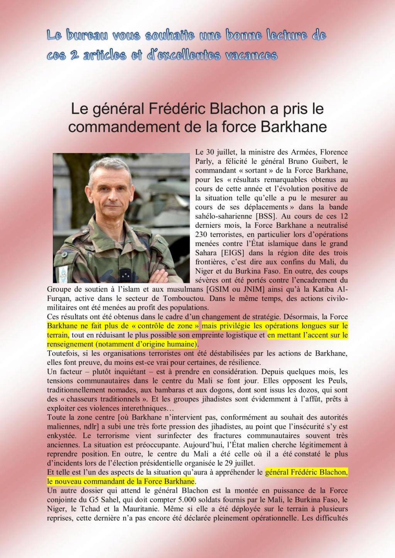 Le général Frédéric Blachon a pris le commandement de la force Barkhane Blacho10