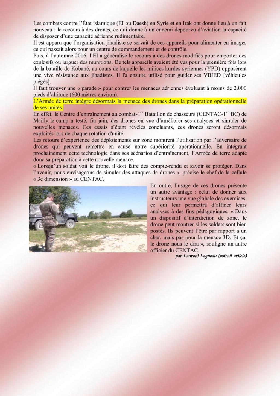 LA MENACE DES DRONES intégrée à la préparation opérationnelle des unités Armée de Terre Blacho13