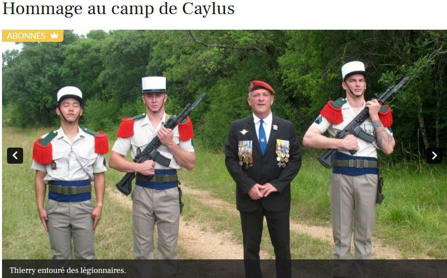 HOMMAGE AU CAMP DE CAYLUS rénovation stèle caporal SCZOGIEL Caylus10