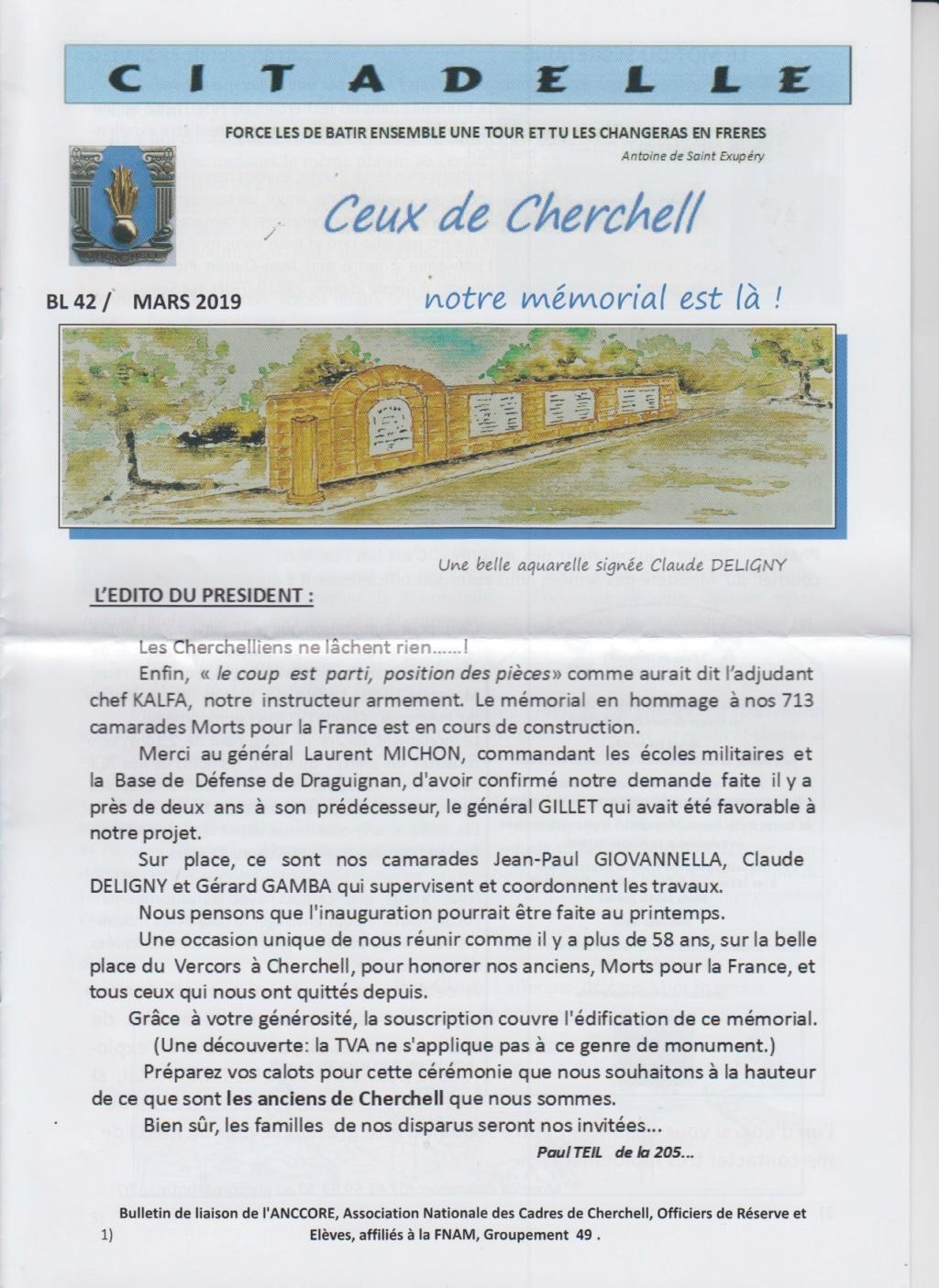 """Bulletin CITADELLE BL42 / mars 2019 """"Notre mémorial est là""""  Numzor13"""