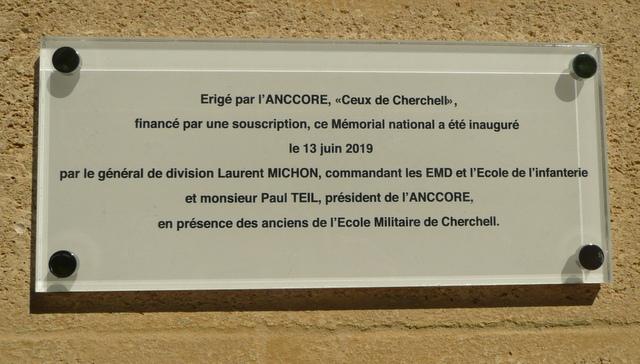 """Mémorial de l'école d'Infanterie Cherchell: """"CEUX DE CHERCHELL"""" érigé le 13 juin 2019 P1210410"""