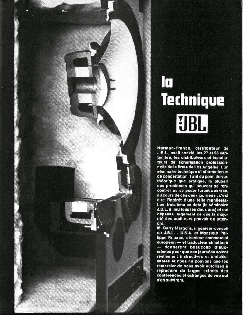 La Technique JBL (Séminaires JBL 1977) Jbl110