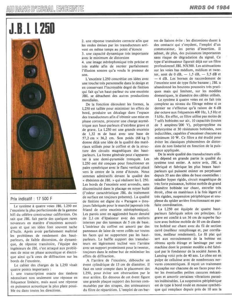 Modèle 250 Ti Limited Edition - Page 5 Jbl25010
