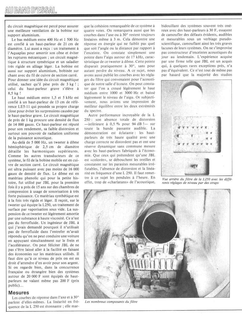 Modèle 250 Ti Limited Edition - Page 5 Jbl25012