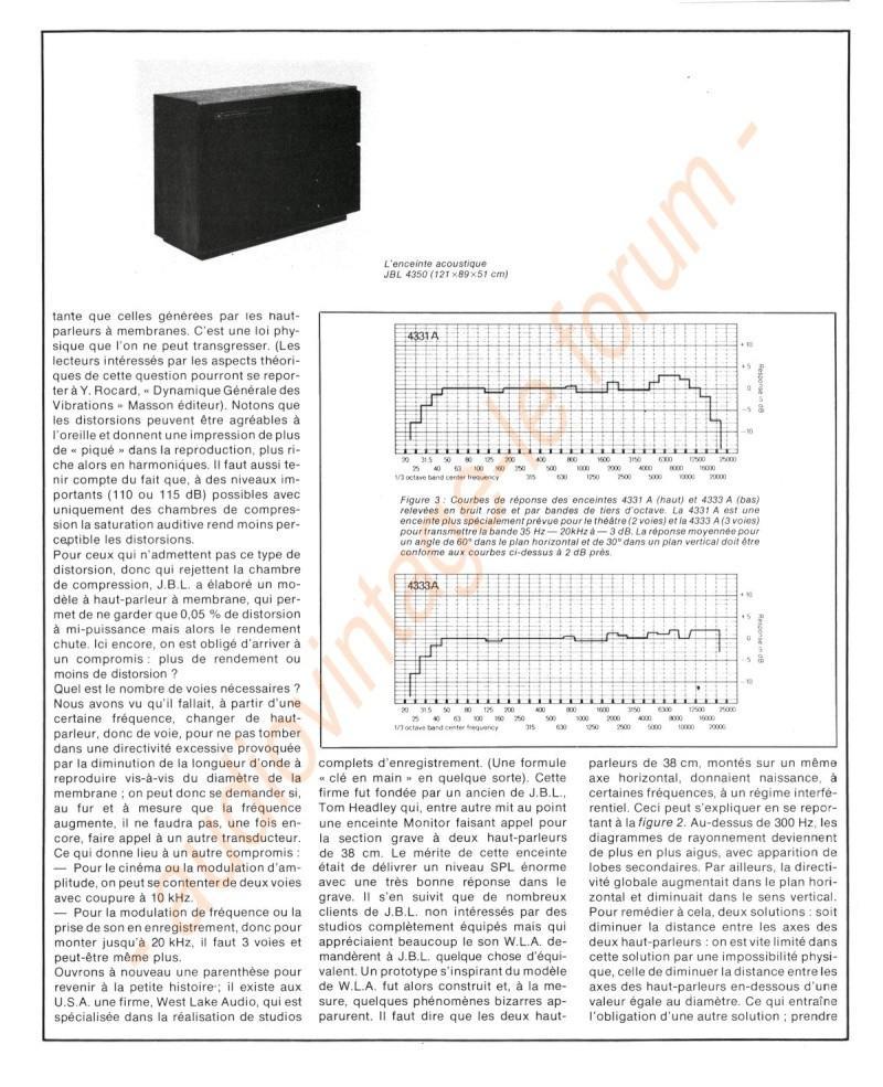 La Technique JBL (Séminaires JBL 1977) Jbl410