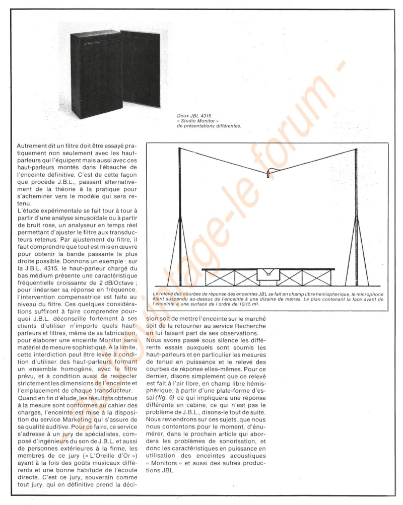 La Technique JBL (Séminaires JBL 1977) Jbl610