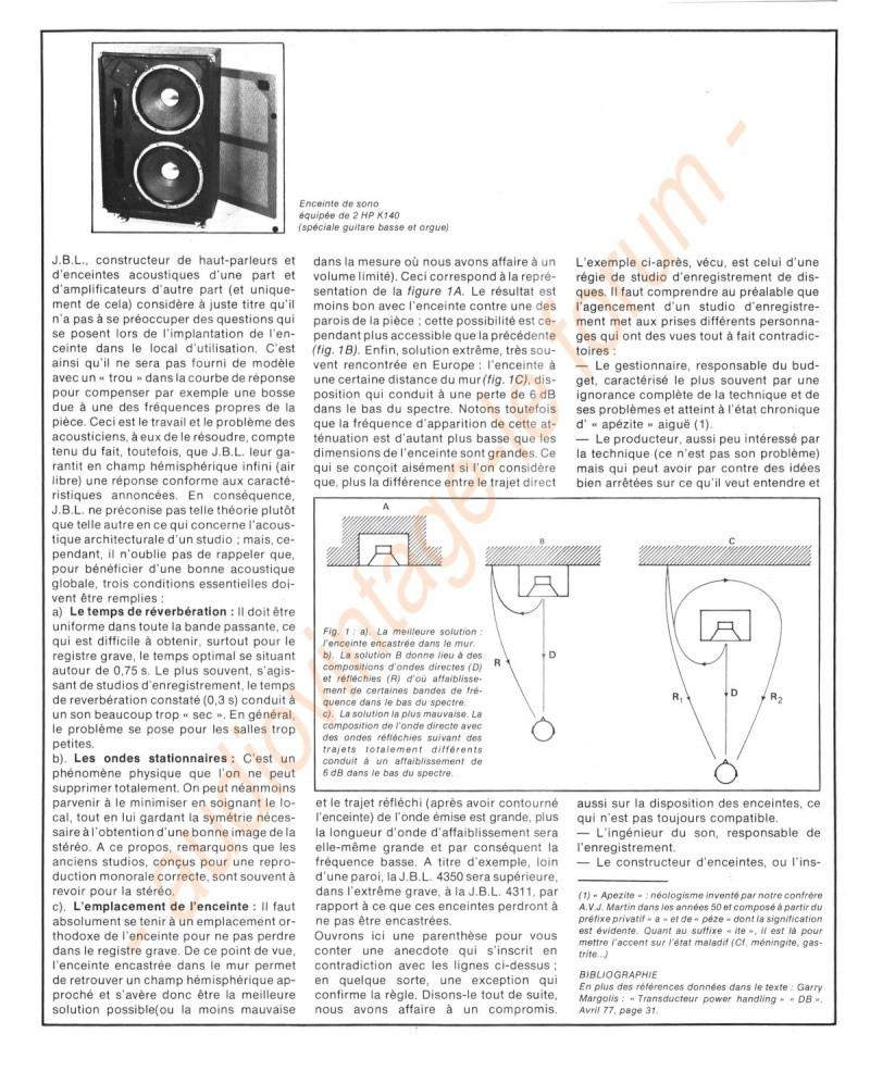 La Technique JBL (Séminaires JBL 1977) Jbl710