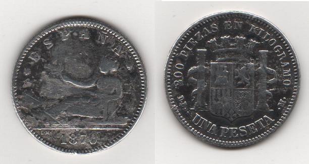 1 Peseta de Alfonso XII (Madrid, 1901 d.C) Variante 1870_110