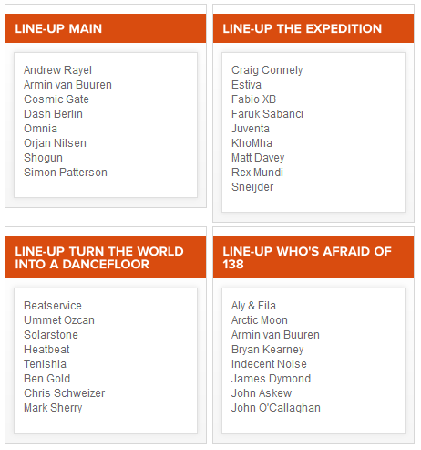 [ A STATE OF TRANCE 600 - 6 Avril 2013 - Brabanthallen - Den Bosch - NL ] - Page 3 Lineup10