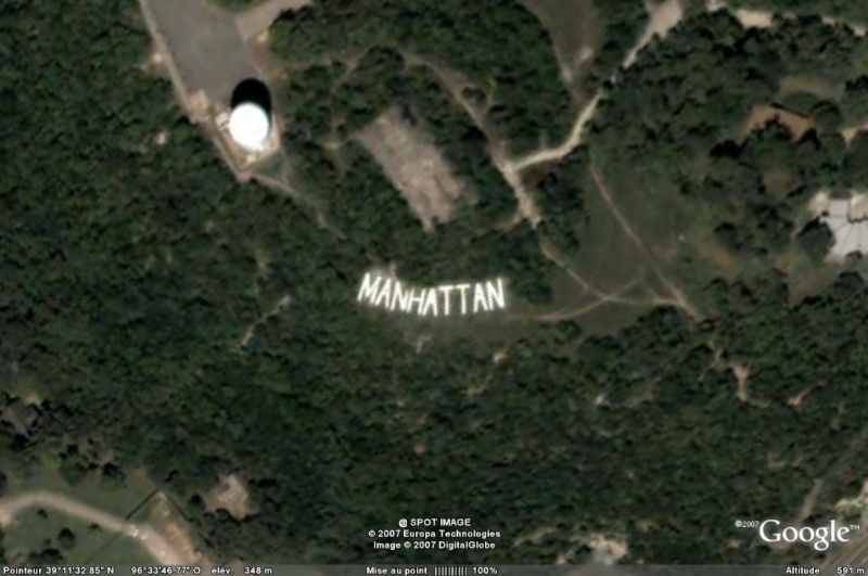 "Ecriture ""Manhattan"", Kansas - USA Manhat10"