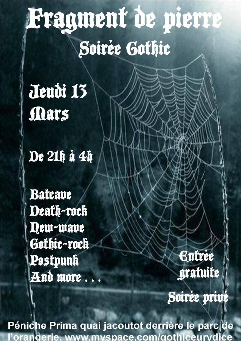 soirée gothic fragment de pierre jeudi 13 mars Affich15