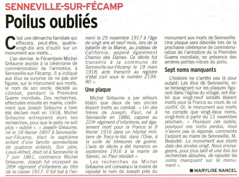 regiment - Senneville-sur-Fécamp - Poilus oubliés 2009-111