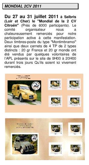 A la recherche d'un timbre 2cv....  Mondiale 2011 Salbri12