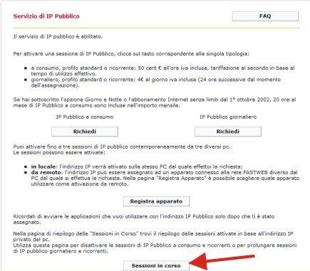 Configurare l'IP pubblico x il Broadcast con Fast Web Image115