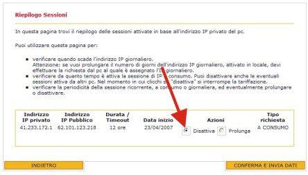 Configurare l'IP pubblico x il Broadcast con Fast Web Image116