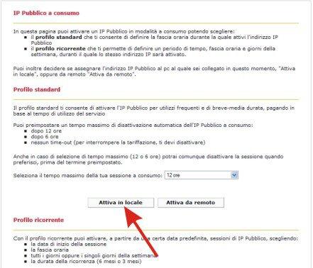 Configurare l'IP pubblico x il Broadcast con Fast Web Image910