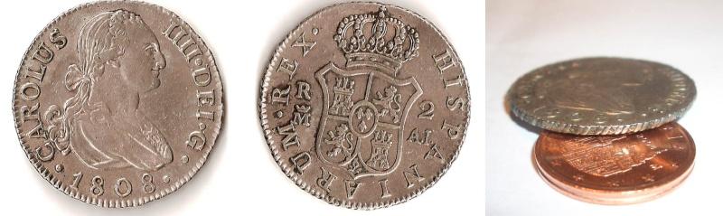 2 reales Carlos IIII 1808 ceca de Madrid 2_real10